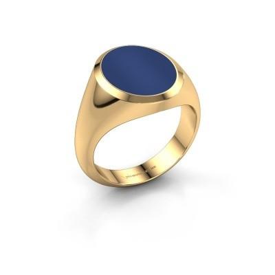 Foto van Zegelring Herman 4 585 goud lapis lazuli 15x12 mm
