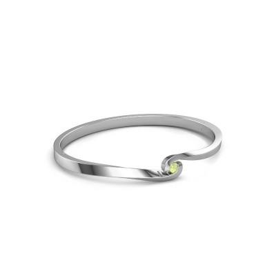 Bangle Sheryl 585 white gold peridot 3.7 mm
