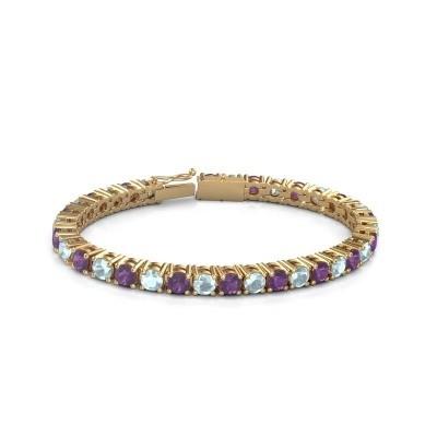 Bild von Tennis Armband Ming 375 Gold Amethyst 5 mm
