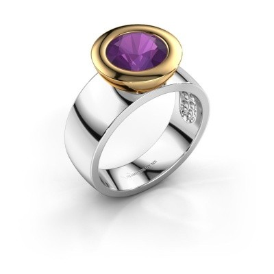 Ring Maxime 585 witgoud amethist 8 mm