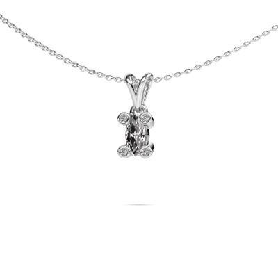 Foto van Ketting Cornelia Marquis 375 witgoud lab-grown diamant 0.35 crt