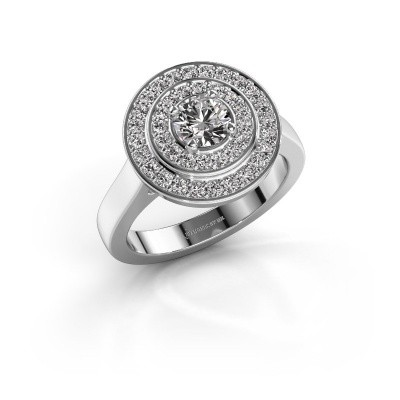 Ring Alecia 1 585 witgoud zirkonia 5 mm