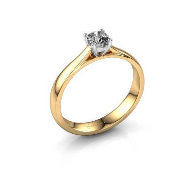 Engagement ring Sam 585 gold zirconia 4.2 mm