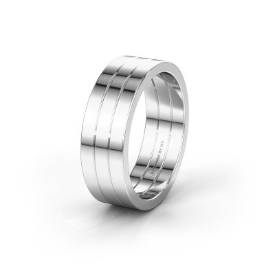 Trouwring WH2120M 585 witgoud ±7x1.7 mm