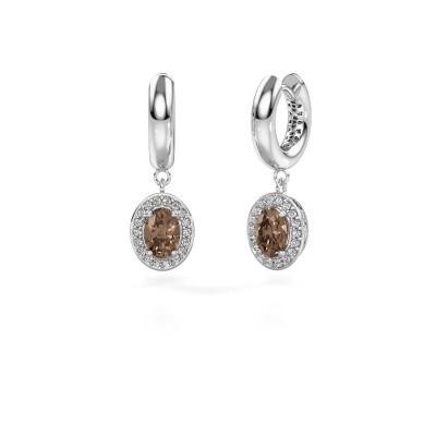 Picture of Drop earrings Annett 950 platinum brown diamond 1.87 crt