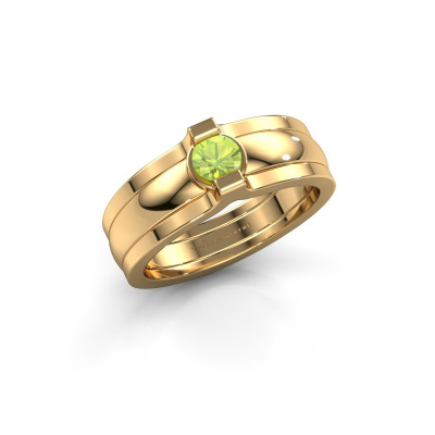 Ring Jade 585 Gold Peridot 4 mm