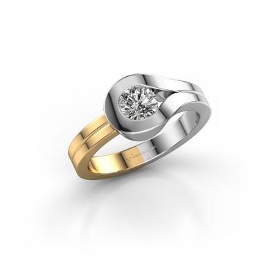 Ring Kiki 585 witgoud diamant 0.10 crt