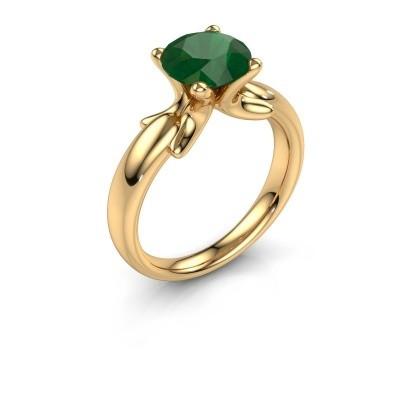 Foto van Ring Jodie 585 goud smaragd 8 mm