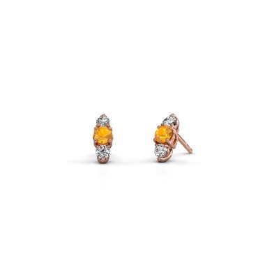 Picture of Earrings Amie 375 rose gold citrin 4 mm