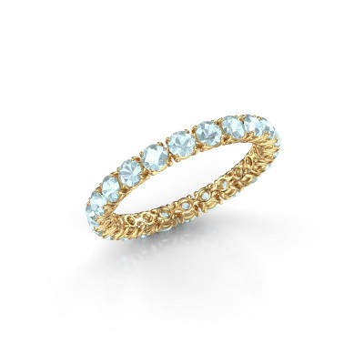 Foto van Ring Vivienne 2.7 375 goud aquamarijn 2.7 mm