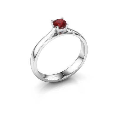 Engagement ring Sam 950 platinum ruby 4.2 mm