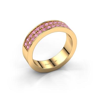 Aanschuifring Catharina 6 585 goud roze saffier 1.7 mm