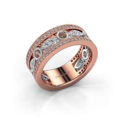Picture of Ring Jessica 585 rose gold brown diamond 0.864 crt