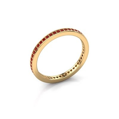 Aanschuifring Elvire 1 585 goud robijn 1.1 mm