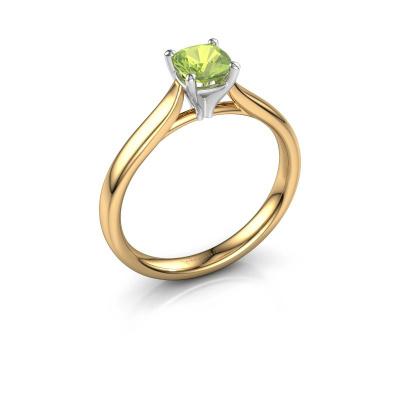 Verlovingsring Mignon cus 1 585 goud peridoot 5 mm