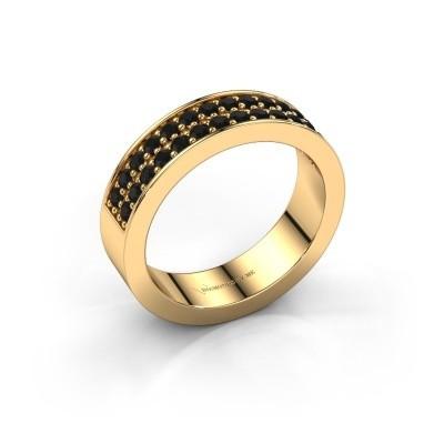Aanschuifring Catharina 6 375 goud zwarte diamant 0.672 crt