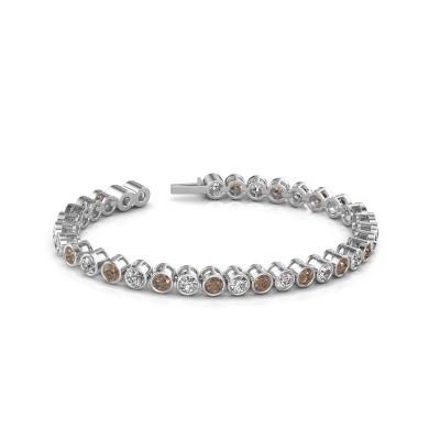 Foto van Tennisarmband Allegra 585 witgoud bruine diamant 9.50 crt