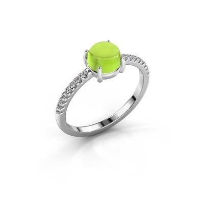 Ring Cathie 925 zilver peridoot 6 mm