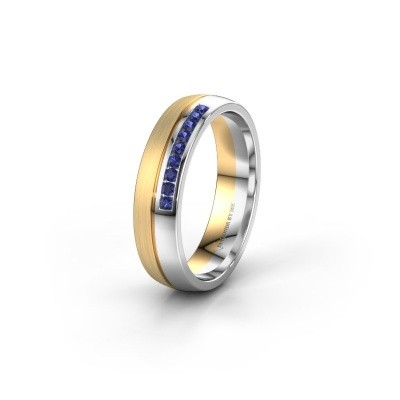 Wedding ring WH0209L25APM 585 gold sapphire ±0.20x0.07 in