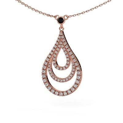 Foto van Hanger Delpha 375 rosé goud zwarte diamant 0.490 crt