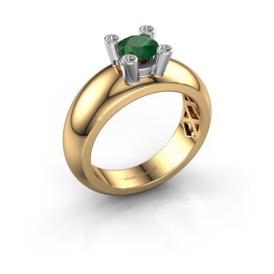 Ring Cornelia Round 585 Gold Smaragd 5 mm
