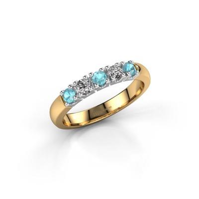 Foto van Ring Rianne 5 585 goud blauw topaas 2.7 mm