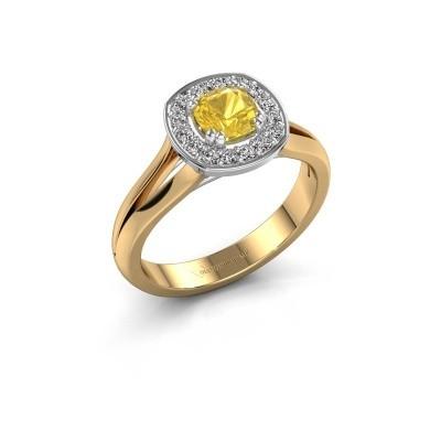 Foto van Ring Carolina 1 585 goud gele saffier 5 mm