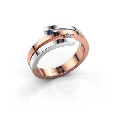 Ring Roxane 585 rosé goud saffier 2 mm