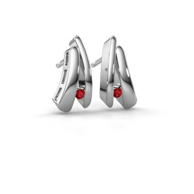 Picture of Earrings Liesel 585 white gold ruby 2 mm