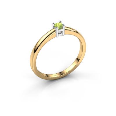 Promise ring Eline 1 585 goud peridoot 3 mm