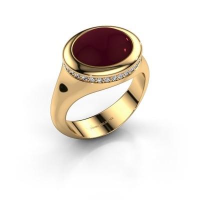 Foto van Ring Lesli ovl 375 goud granaat 12x10 mm