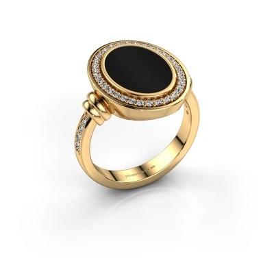 Foto van Heren ring Servie 3 585 goud onyx 14x10 mm