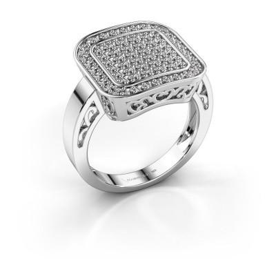Foto van Ring Beatrice 925 zilver diamant 0.60 crt