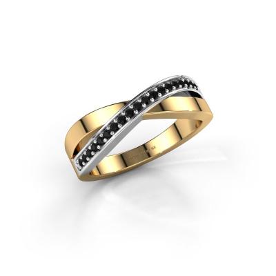Photo de Bague Kaley 585 or jaune diamant noir 0.17 crt