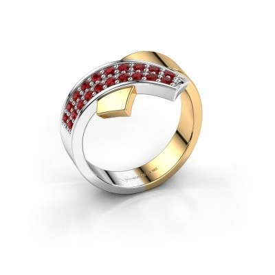 Foto van Ring Ivette 585 goud robijn 1.3 mm
