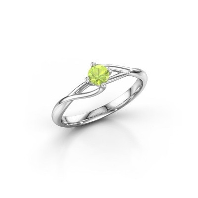 Picture of Engagement ring Paulien 925 silver peridot 4 mm