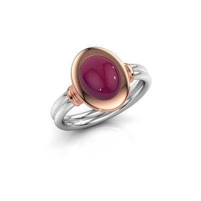 Picture of Ring Brittni 585 white gold rhodolite 9x7 mm