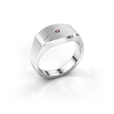 Foto van Heren ring Joe 3 925 zilver rookkwarts 2 mm