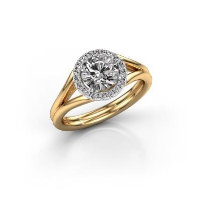 Engagement ring Verla rnd 1 585 gold diamond 1.18 crt