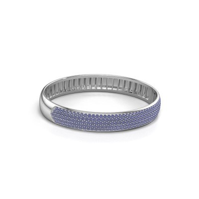Foto van Slavenarmband Emely 10mm 585 witgoud saffier 1.7 mm