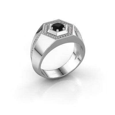 Foto van Heren ring Sjoerd 925 zilver zwarte diamant 0.81 crt