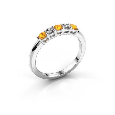 Foto van Promise ring Michelle 5 585 witgoud citrien 2.7 mm