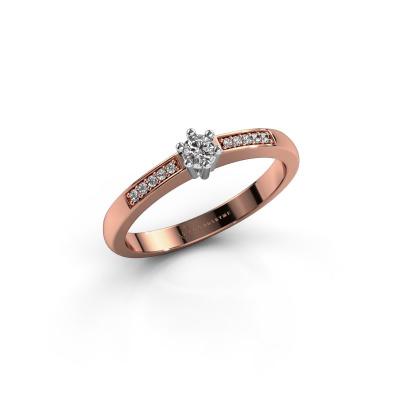 Verlovingsring Luna 2 585 rosé goud diamant 0.055 crt