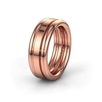 Picture of Friendship ring WH6018M 585 rose gold ±0.31x0.11in