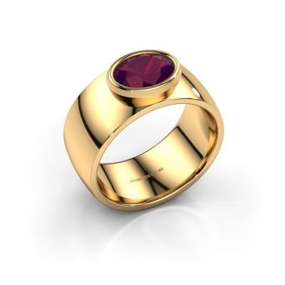 Foto van Ring Wilma 1 585 goud rhodoliet 8x6 mm