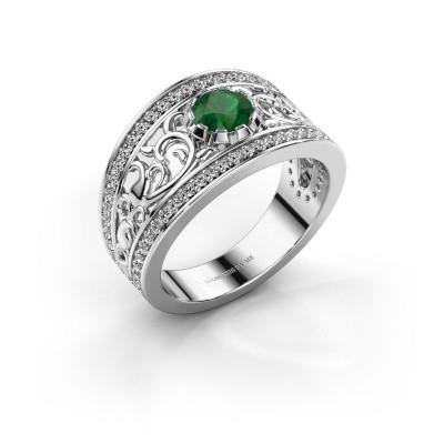 Ring Marilee 950 platina smaragd 5 mm