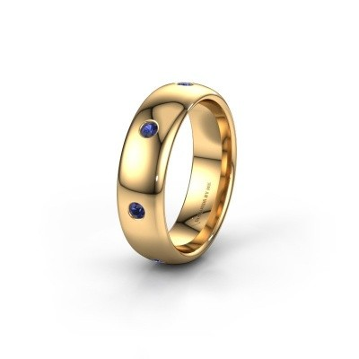 Wedding ring WH0105L36BP 375 gold sapphire ±0.24x0.08 in