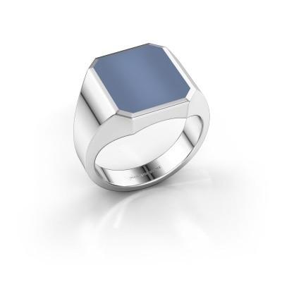 Foto van Zegelring Lars 3 925 zilver licht blauwe lagensteen 14x12 mm