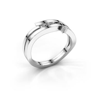 Ring Amelie 585 Weißgold Zirkonia 1.7 mm