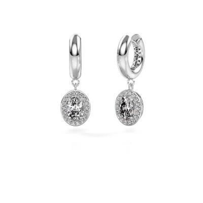 Picture of Drop earrings Annett 375 white gold diamond 1.87 crt